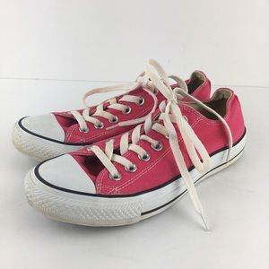 Bright Pink All Star Converse Sneakers Women's 7